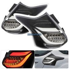 2012-2014 Ford Focus ST 5DR Hatchback Tail Light LED Rear Brake Lamp Clear Black