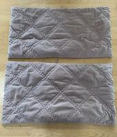 Set Of 2 Grandin Road Velvet Pillow Shams Dusty Rose Pink Blush King Size