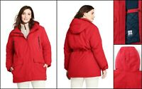 "$199 NWT Lands End ""Weather Channel"" Plus 1X 16W-18W Insulated Squall Parka"