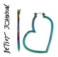 Betsey Johnson Chic Boom Hoop Star  Earrings Authentic US Seller
