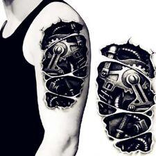 Body Art Cool 3D Men Sleeve Tattoo Arm Temporary Robotic Arm Tattoo Stickers Hot