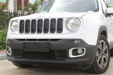 Suparee Black ABS Front Grill Grille Inserts Cover for Jeep Renegade 2015-2017
