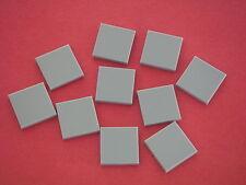 Lego Star Wars 10 plaques lisses / Tiles 2x2 Light Bluish Gray New / REF 3068B