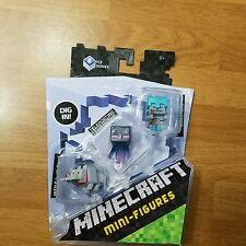 2 PACKS! Minecraft Mini-Figure 3-Pack Ice 5 Series DPY68 WOLF ENDERMAN SKELETON