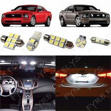 5x White LED lights interior package kit for 2005-2009 Ford Mustang FM1W