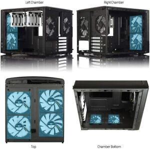 Fractal Design Node 804 Black Window Aluminum/Steel Micro ATX Cube Computer Cas