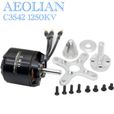 Aeolian C3542 KV1250 RC Outrunner Brushless Motor with Motor Mount Prop Adapter