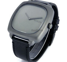 NIXON MEN WATCH 'SHUTTER SS' JAPAN MOVEMENT  STAINLESS STEEL  LEATHER  A286-1062
