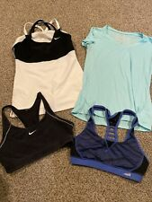 Womens Nike Work Out Yoga Exercise Shirt Bra lot of 4- S/M (2 Nike/2 Other Brand