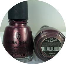 China Glaze Nail Polish LASSO MY HEART 669 Deep Purple Mauve Shimmer Lacquer