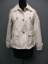 THEORY White Long Sleeves Pockets Button Front Causal Solid Jacket Sz S DD6531