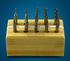 10 Pc Hss Miniature Double-End End Mill Set 2 & 4 Flute