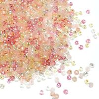 SB1950 Grapefruit Sparkle Pink & Yellow 6/0 4mm Glass Seed Bead Premium Mix 1oz