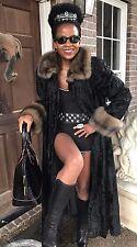Designer Sorbara Neiman Marcus Full length Russian Sable broadtail Fur Coat S-M
