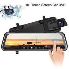 Newest 10'' Dual Lens 1080P Car DVR Touch Screen Dashcam Video Recorder Camera