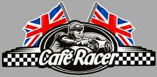Café Racer  bretagne logo 2 UK FLAGS left sticker