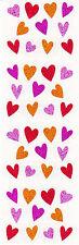 Mrs. Grossman's Stickers - Sparkle Tiny Hearts - Pink, Orange, Red - 3 Strips