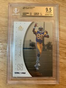 1999 SP Authentic #96 Torry Holt Rookie Football Card BGS 9.5 #/d 0086/1999
