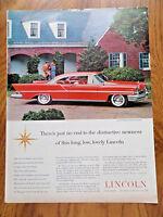 1957 Lincoln Premiere Two Door Hardtop Ad