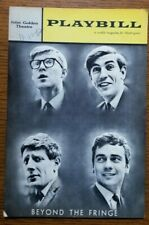 Beyond The Fringe Dudley Moore/Peter Cook/Alan Bennett 1962 Playbill