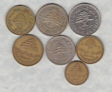 7 COINS FROM THE LEBANON IN GOOD FINE OR BETTER CONDITION