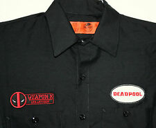 Marvel Comics Dead Pool Deadpool Gas Station Attendant Weapon X Shirt New Small