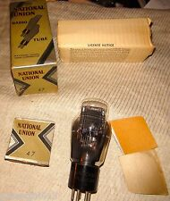 Vintage Very Strong National Union #47 Vacuum Tube 78 Engraved