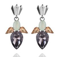 1 Pair Fashion Women Crystal Rhinestone Drop Dangle Ear Stud Earrings Jewelry