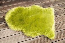 Kuscheliges Fell Trend grün Teppich Flokati  zb. Stuhlkissen VERSANDKOSTEN FREI