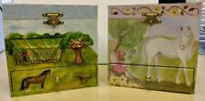 Two Enchantments Horse Music Jewelry boxes, B1040 and B1023