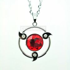 Naruto Sharingan Modelling Ruby Pendant Necklace Anime Accessories