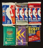 Lot of 6 Vintage Unopened Basketball Packs NBA Hoops Fleer Skybox Jordan