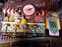 VINTAGE COCA COLA CAFE OR DINER CLOCK FOR PARTS OR REPAIR