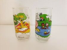 VINTAGE McDONALDS CAMP SNOOPY PEANUTS PROMO DRINKING GLASSES