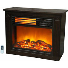 Compact Infrared Electric Fireplace Heater Warm Home Realistic Flame Fire Place