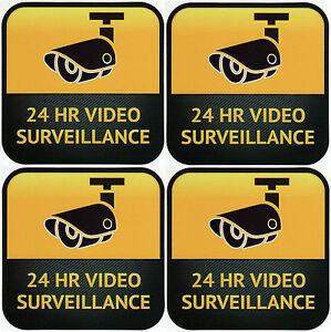 CCTV Camera Warning Stickers, Surveillance Vinyl Decal, Video Security Sign X