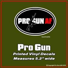 "PRO GUN AF Oval  - 5"" Rifle Decal Sticker"
