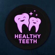 Dentist Healthy Teeth LED Neon Sign Dental Hygienist Office Decor