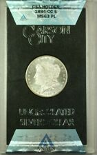 1884-CC GSA Hoard Morgan Silver Dollar $1 Coin ANACS MS-63 w/ Box&COA Proof Like