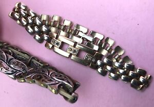 Konvolut 2x vintage Damenschmuck Armband Modeschmuck Schmuck Gliederarmband~1935