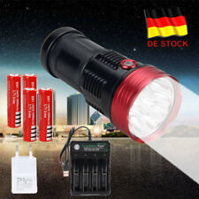 Super hell SKYRAY 30000LM 10x T6 LED Flashlight Taschenlampe Licht 4x18650 Akku