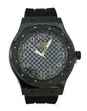 Mens Fashion Watch Ice Master BM1320  Black Silicone Band Black Dial