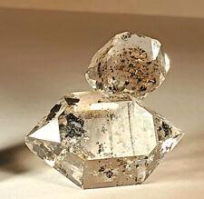 HERKIMER DIAMOND - Quartz with Pyrobitumen