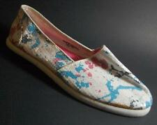 NEW Girls Youth's PARIS BLUES AZUSA  White Flats Slip On Loafers  Shoes SZ 2