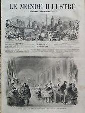LE MONDE ILLUSTRE 1859 N 92 VENTE DE CHARITE PAR LA PRINCESSE CZARTTORISKA