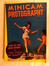 Minicam Photography Magazine August 1940 Munkacsi Fashion Naval Battle Beauty