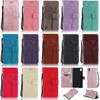 Cat Tree Wallet Leather Flip Case Cover For Sony 1 2 5 8 10 L3 XZ1 XZ2 XZ3 XA2