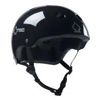 New Pro-Tec The Classic Plus Gloss Black Skateboard Helmet
