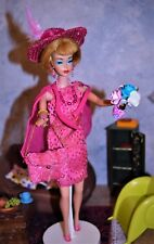 "Vintage American Girl Blond Barbie ""Pink Sparkle"" #1440 1967 OOAK Great Extras"