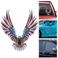 Bald Eagle American Flag Car Window Bumper Laptop Truck Auto Vinyl Sticker Decal